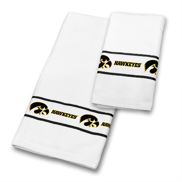 Iowa University 2 Piece 100% Cotton Towel Set by Sports Coverage Inc.